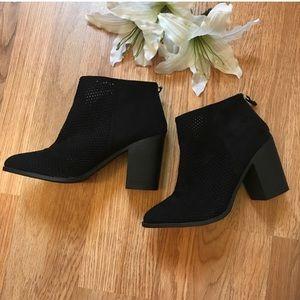 Cityclassified-Perforated Heel Booties-10